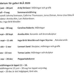 Sommarutställning på Galleri BLÅ