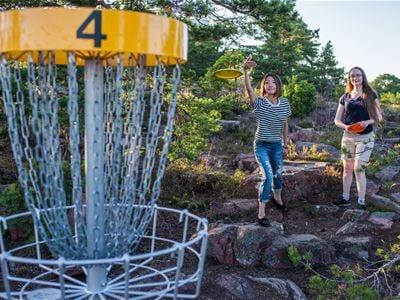 DiscGolf in the eastern part of the Åland Islands