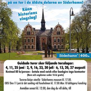 Stadsvandringar i Söderhamn sommaren 2020