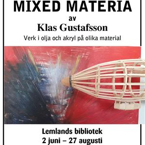 Art exhibition at Lemland Library: Mixed Materia by Klas Gustafsson