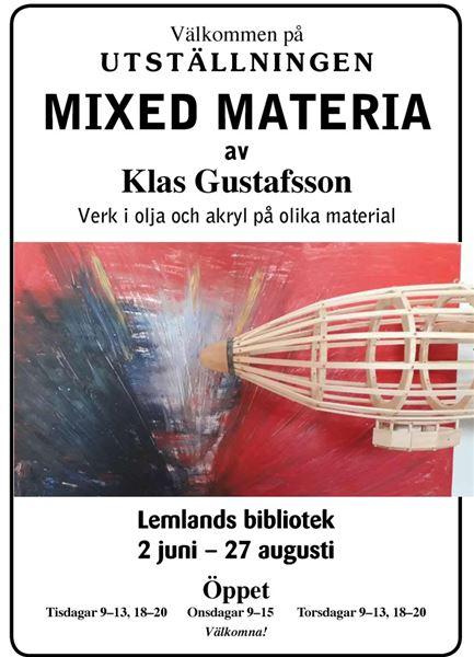 Konstutställning i Lemlands bibliotek: Mixed Materia av Klas Gustafsson