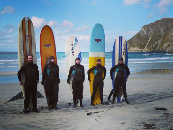 Lofoten Beach Camp,  © Lofoten Beach Camp, Surfing course at Lofoten Beach Camp