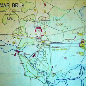 © Föreningen Hyttan, Karta över Axmar bruk