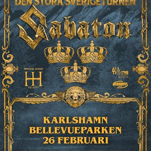 Poster of Sabatons gig in Karlshamn
