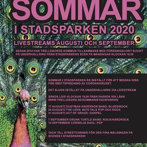 © Kultur- och fritidsförvaltningen, Affisch över Sommar i stadsparken 2020