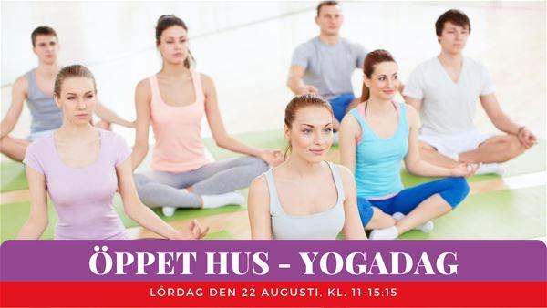 Open House - Yoga day / Yogaprogram