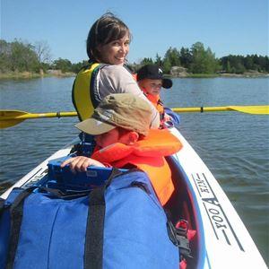 Kajakpaddling med barn