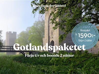 Gotlandspaketet • Färja + hotell 2 nätter