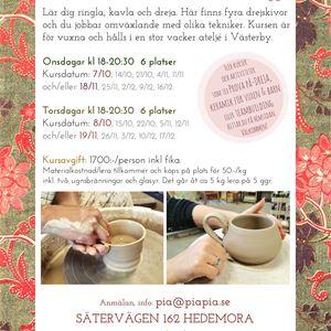 Keramikkurs på kvällar