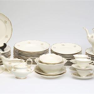kitchenware of white porcelain