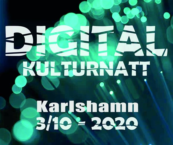 Poster for digital Culture Night