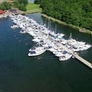 The marina from above