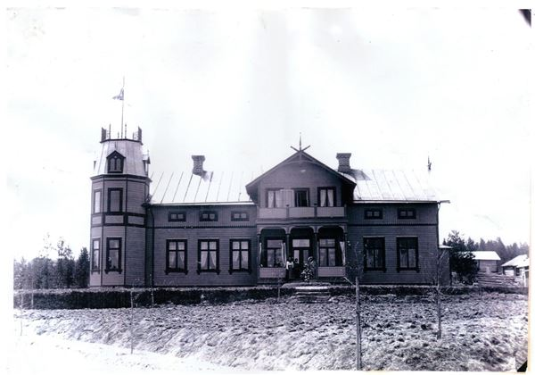 Old picture of turistgården from 1800th century.