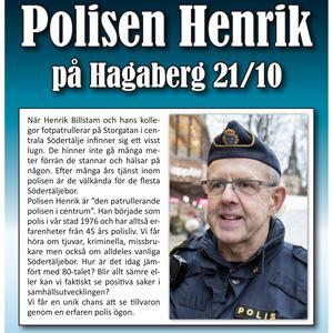 Kulturkväll: Polisen Henrik - Den patrullerande polisen i centrum