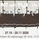 """Taidenäyttely: """"Puu, ruoste ja öljy"""" - Stig Petronen rantalöytöjä ja öljymaalauksia"""
