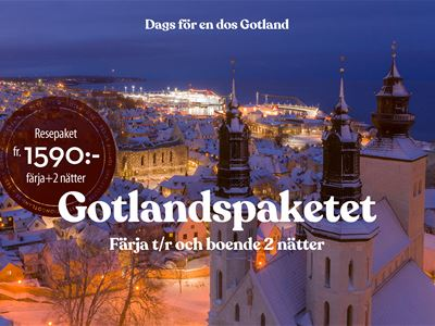 The Gotland Package • Ferry + Hotel 2 nights