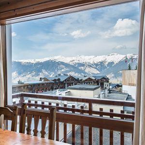 1 Studio 4/5 personnes skis aux pieds / RESIDENCE 1650 52 (Montagne de Charme) / Séjour Sérénité