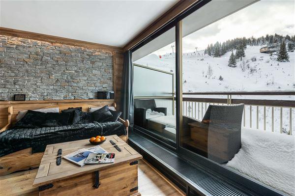 2 pièces 5 personnes skis aux pieds / OURSE BLEUE 903 (Montagne de Charme) / Séjour Sérénité