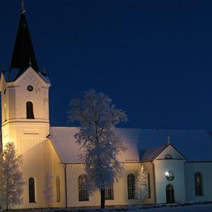 Bild på Ore kyrka.