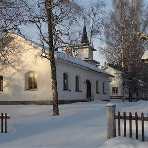 Vinterbild Dådrans kapell.