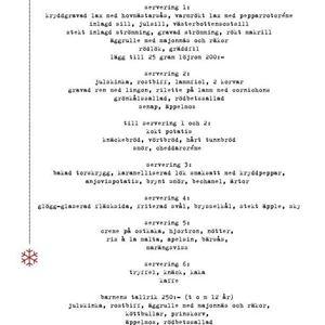 Julbord En Liten Sjökrog Hälsingland Restaurang Sörfjärden