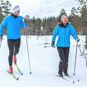 Technique training Cross country skiing