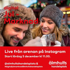 Digital Christmas market at Älmhult's Handelsplats