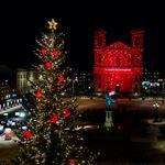Ljusspel på Fredrikskyrkan