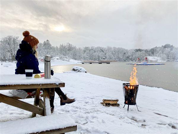 Winter fun at Dragsö