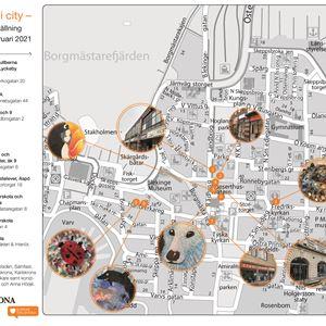 Children's art in the city center - Shop window exhibition 2021