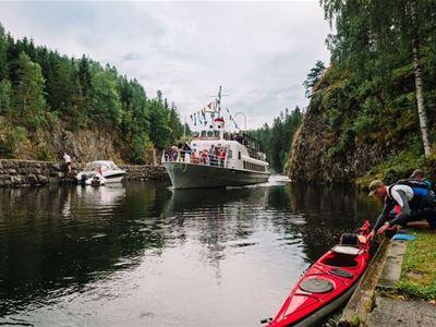 Halvdagstur: Akkerhaugen – Lunde – Akkerhaugen  (Båt Først)