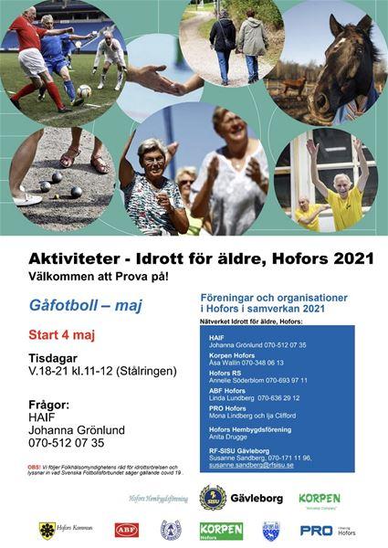 Aktiviteter - Idrott för äldre - Gåfotboll
