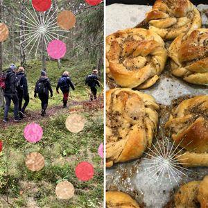 Vårvandring med hembakat på Folk & Fä,  norra Väddö