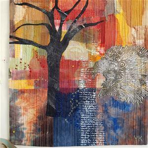 © Yvonne Kervinen, Konstutställning Art Quilt, Järnboden Harg