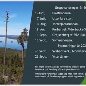 © Gunnel Wåhlberg, Gruppvandring efter Sommarvägen till Alderbacka fäbod 18 september