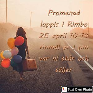 Promenadloppis i Rimbo 24 april
