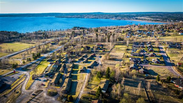 Rättvik and Siljan from above.