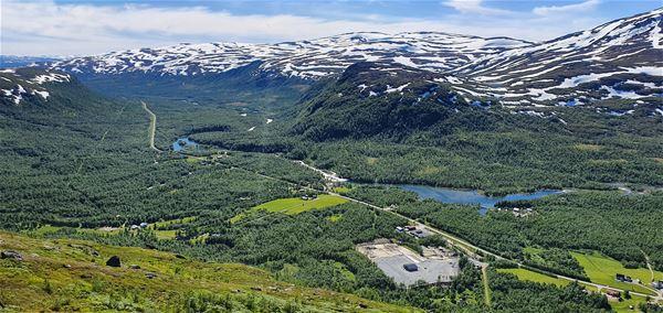 Utsikt över Umfors och campingen