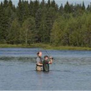 Folk som fiskar
