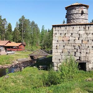 Gården vid Siljansfors Skogsmuseum.