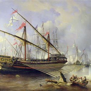 Marinmuseum, St Petersburg, konstnär: Ferdinand Victor Perrot