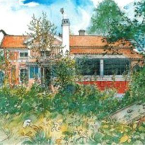 Målning av Carl Larsson gården.
