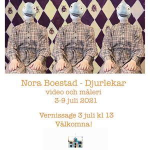 Nora Boestad ställer ut DJURLEKAR