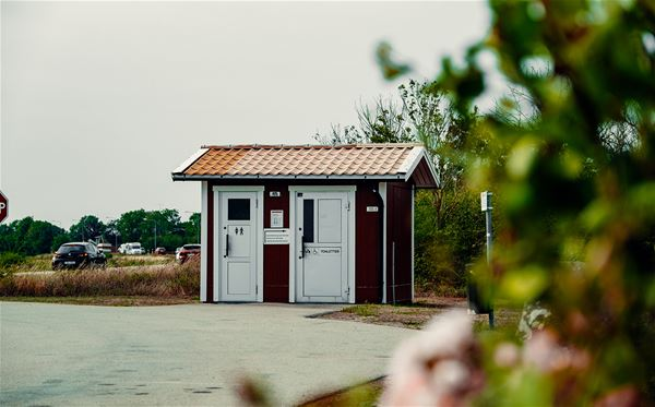 Latrintömning - Glömminge rastplats