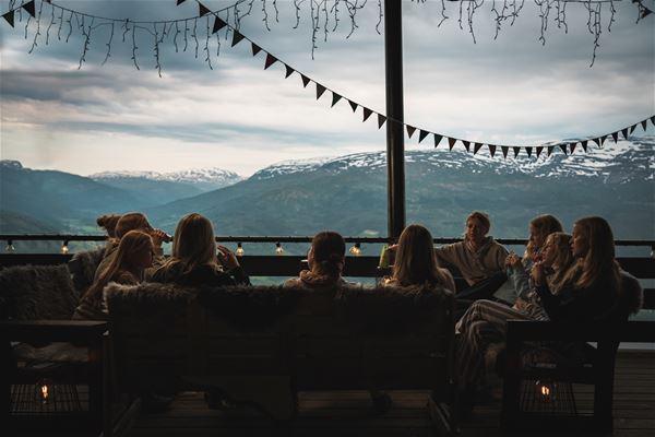Hengekøye overnatting på Hangursrestauranten