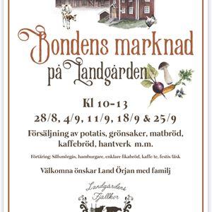 © Anna Göran Design, Marknadsaffisch som talar om att det blir marknad.