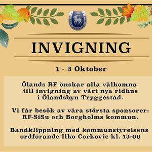 Invigning Ridhus, Thoreb Cup