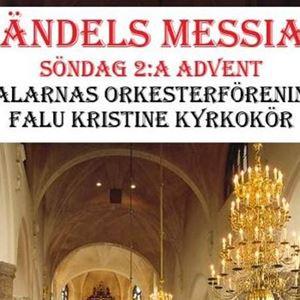 Affisch, Händels Messias, bild från Kristine kyrka.