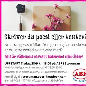 Uppstart för Storumans poesi- och skrivarsällskap