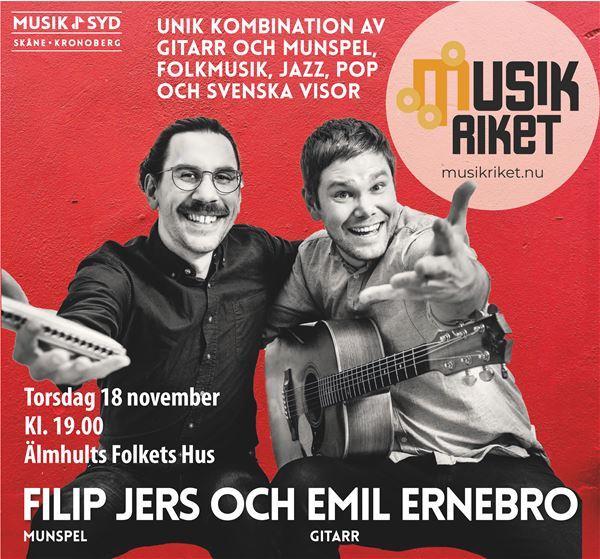 Konsert: Filip Jers & Emil Ernebro